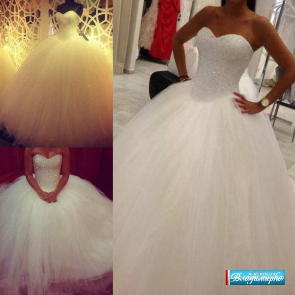 Свадебные платья с пышной юбкой и цены